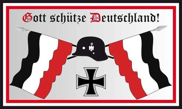 DR- Gott schütze Deutschland Flagge 90x150 cm