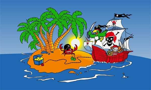 Pirat Piratenschiff Kinderpiraten Schatzinsel Flagge 90x150 cm