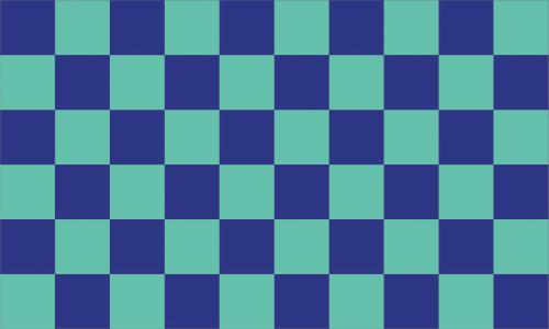 Karo dunkelblau - hellblau Flagge 90x150 cm