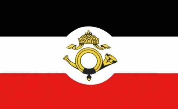DR- Reichspost Flagge 90x150 cm