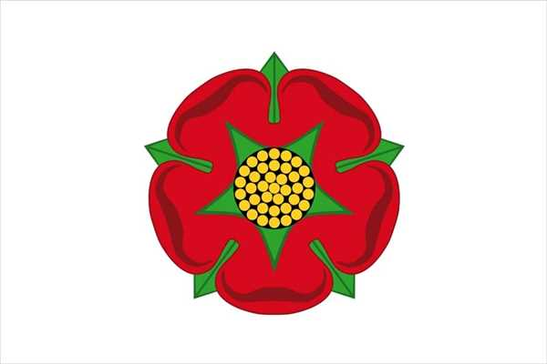 Lancashire (Red Rose) Flagge 90x150 cm
