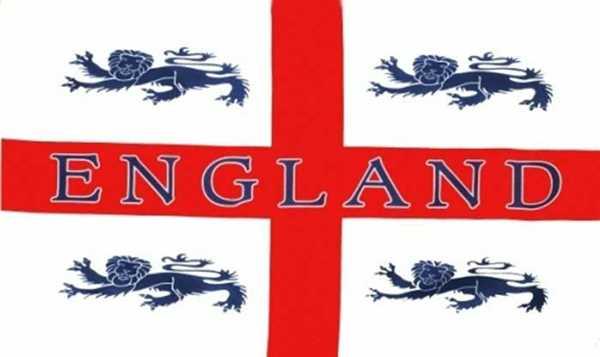 England St. George 4 Löwen Flagge 90x150 cm