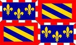 Burgund (Region) Flagge 90x150 cm