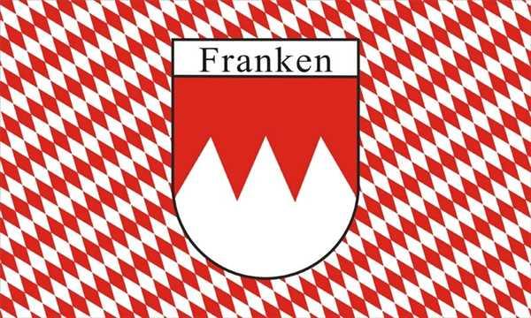 Franken kariert (kleine Rauten) Flagge 90x150 cm