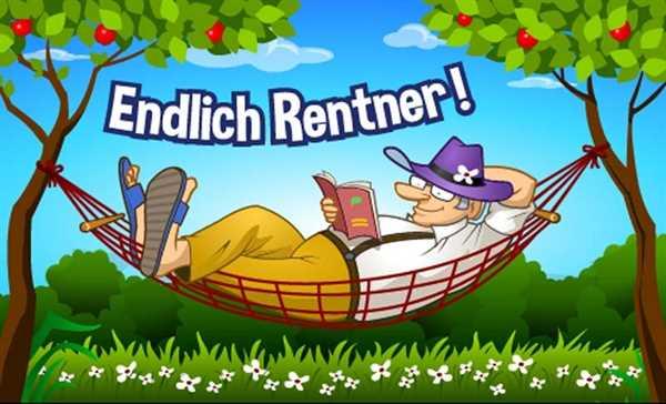 Rentner - Endlich Rentner Hängematte Flagge 90x150 cm