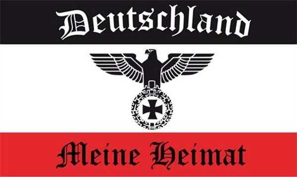 DR- Deutschland mit Adler Meine Heimat Flagge 60x90 cm